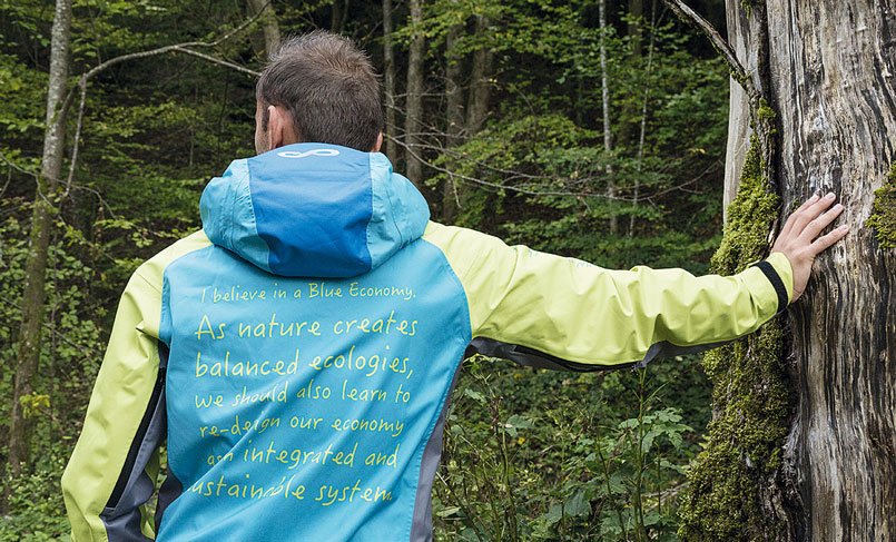 Sympatex functional jacket made of recycled bottles